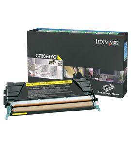 Ver Lexmark C736H1YG Cartucho 10000paginas Amarillo toner y cartucho laser