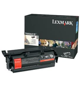 Lexmark T650A21E cartucho de toner Original Negro