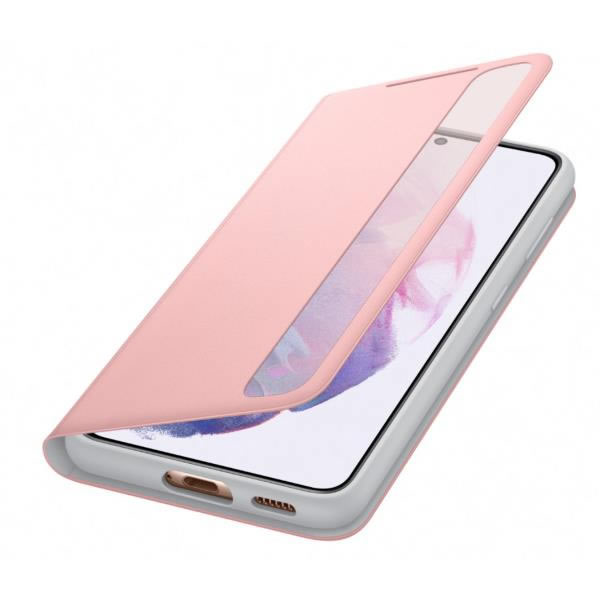 Samsung Clear View Cover Galaxy S21 Rosa