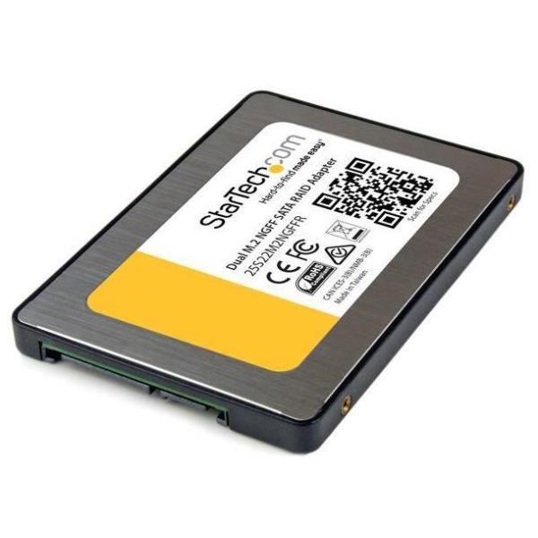 StarTechcom Adaptador Doble M2 NGFF a SATA con RAID