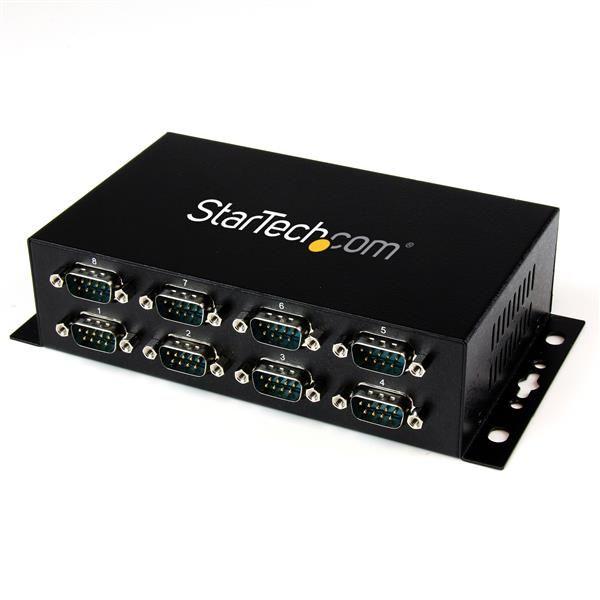 Ver StarTechcom Adaptador Hub Concentrador USB a 8 Puertos Serie RS232 Industrial Montaje en Pared Riel DIN