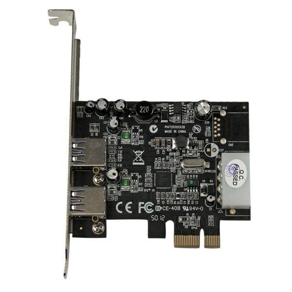 Startechcom Adaptador Tarjeta Controladora Pci Express Pci E 2 Puertos Usb 30 Con Alimentacion Molex Y Uasp