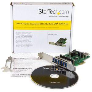 Startechcom Adaptador Tarjeta Pci Express De 7 Puertos Usb 30 Con Perfil Bajo O Completo