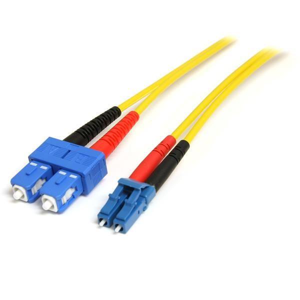 StarTechcom Cable Adaptador de Red de 1m Monomodo Duplex Fibra Optica LC SC  Patch Duplex Modo Sencilla