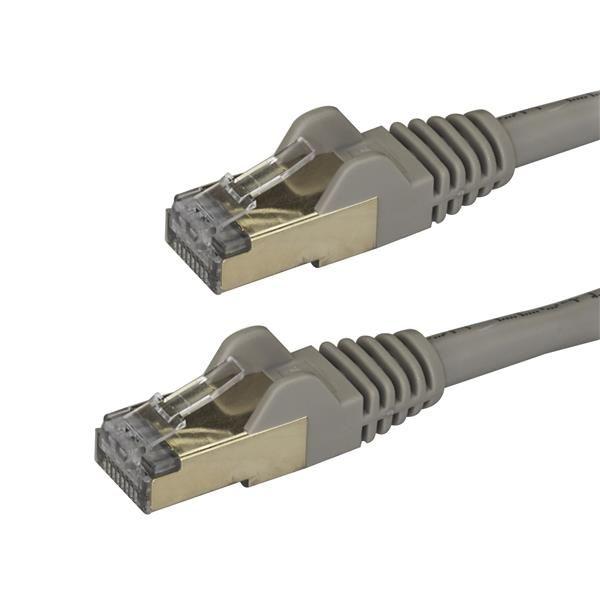 StarTechcom Cable de 3m de Red Ethernet RJ45 Cat6a Blindado STP  Cable sin Enganche Snagless Gris