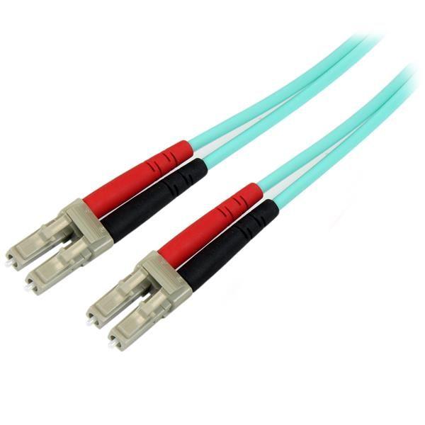 StarTechcom Cable de 5m de Fibra Optica Duplex Multimodo OM4 de 100Gb 50