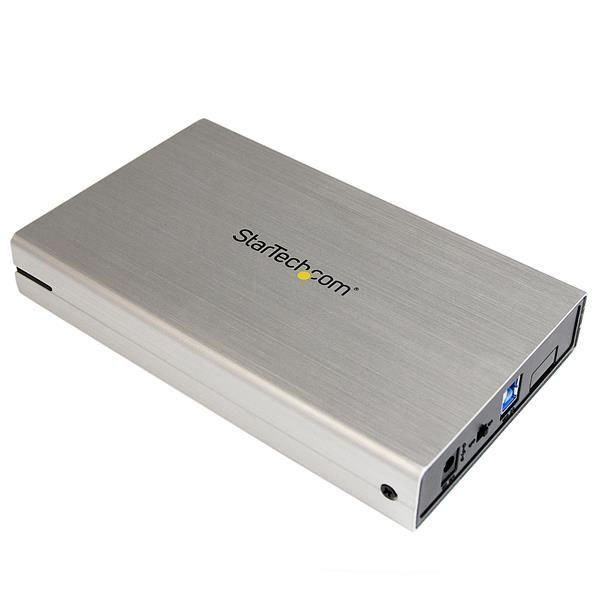 Startechcom Caja Carcasa De Aluminio Usb 30 De Disco Duro Hdd Sata 3 Iii De 3 5 Pulgadas Externo Uasp  Plateado