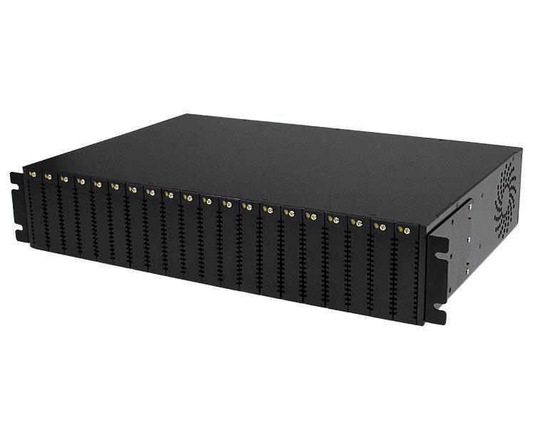 StarTechcom Chasis para Conversores de Medios de Fibra ET Serie 2 de 20 Ranuras para Montaje en Rack Armario 2U