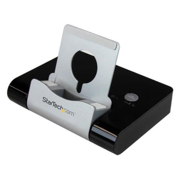 StarTechcom Concentrador USB 30 de 3 Puertos  Hub con Puerto de Carga Rapida 2 1A y Base para Portatiles y Tablets con Windows  Negro
