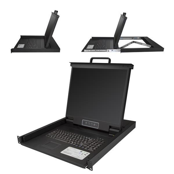 StarTechcom Consola para Armario Rack con KVM VGA y Pantalla de 19 Pulgadas 1U