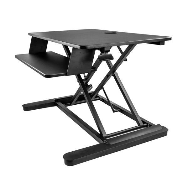 Ver StarTechcom Estacion de Trabajo de Pie y Sentado para Dos Monitores de hasta 24 o Un Monitor de 30  Escritorio Ergonomico Ajustable