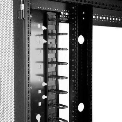 Startechcom Gestor Organizador Vertical De Cableado Con Anillas En D D Ring 0u 91cm
