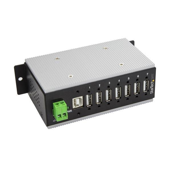 Startechcom Hub Concentrador Ladron Usb 20 De 7 Puertos Industrial  Con Proteccion De 15kv Contra Descargas