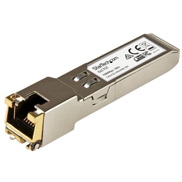 StarTechcom Modulo Transceptor SFP RJ45 Gigabit de Cobre  Compatibles con Cisco GLC T