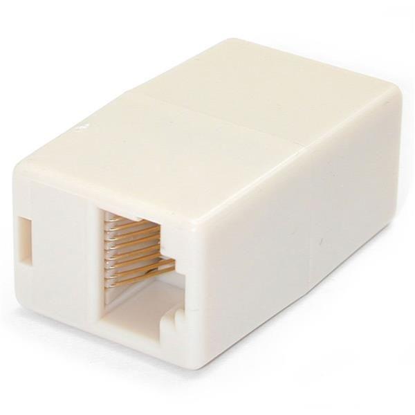 Ver StarTechcom Paquete de 10 Cajas de Empalme Modulares Acopladores para Cable Cat5e Ethernet UTP 2x Hembra RJ45 Beige