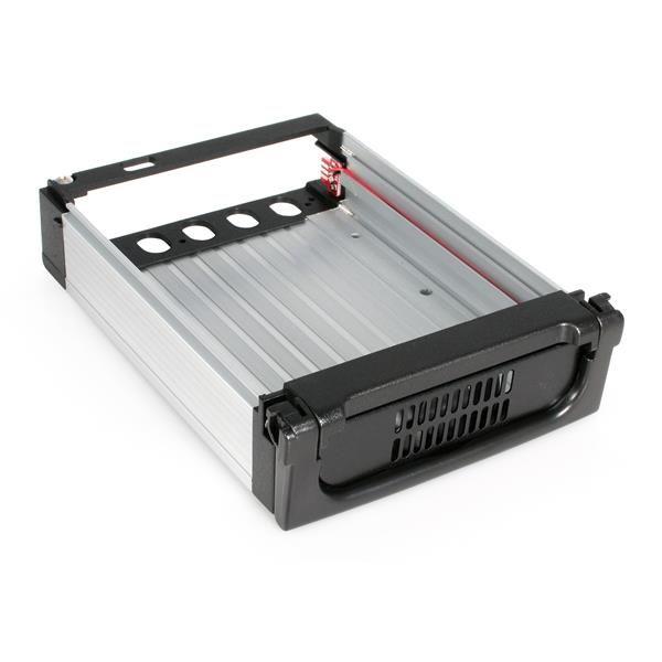 Startechcom Rack Movil Aluminio Reforzado Disco Duro Hdd Sata 3 5 Pulgadas Con Bandeja Bahia 5 25