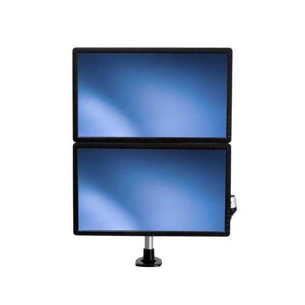 Startechcom Soporte Para Dos Monitores Con Brazos Moviles Apilable