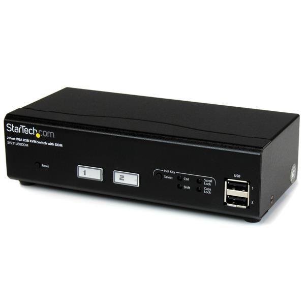 Ver StarTechcom Switch Conmutador KVM de 2 Puertos VGA con Tecnologia de Conmutado Rapido DDM y Cables interruptor KVM
