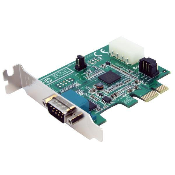 StarTechcom Tarjeta Adaptador PCI Express PCIe 1 Puerto Serie Perfil Bajo Low Profile Serial RS232 DB9 UART 16950