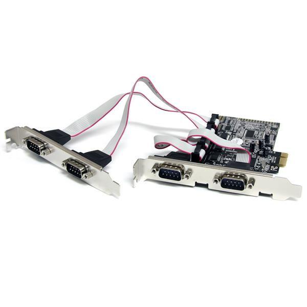 StarTechcom Tarjeta Adaptadora PCI Express PCIe de 4 Puertos Serie RS232 UART 16550 Serial DB9
