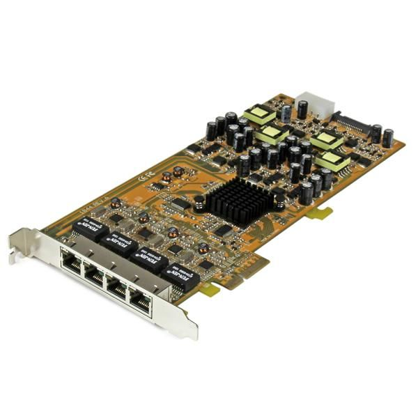 Ver StarTechcom Tarjeta PCI Express de Red Ethernet Gigabit con 4 Puertos RJ45 PoE Power over Ethernet
