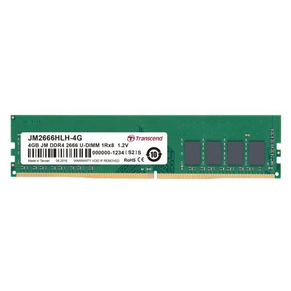 Ver Transcend 4GB 2666 DDR4 NO ECC CL19 288PINS