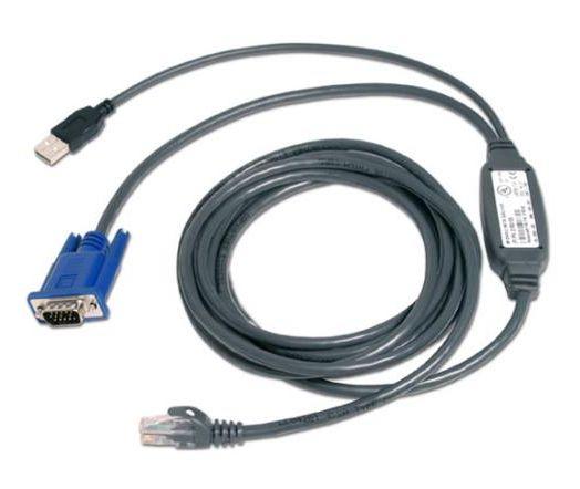 Vertiv Avocent USBIAC 15 USB VGA RJ 45 Negro Azul adaptador de cable