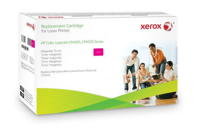 Xerox Cartucho de toner magenta Equivalente a HP CE263A Compatible con HP Colour LaserJet CM4540 MFP Colour LaserJet CP4025 Colour LaserJet CP4525