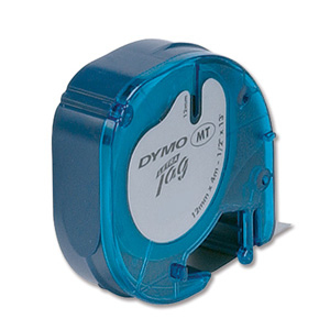 Dymo 12mm Letratag Plastic Tape S0721630