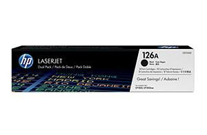 Doble paquete de cartuchos de toner negro HP 126A LaserJet