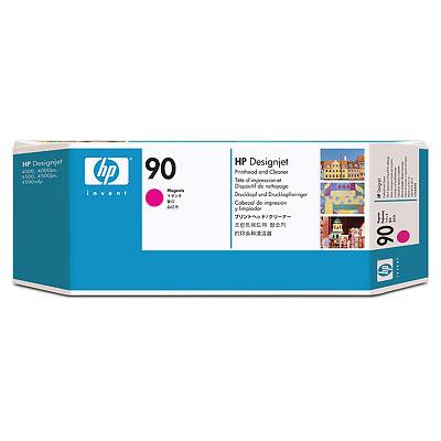 Ver HP CONSUMIBLE Cabezal de impresion y limpiador de cabezal HP 90  magenta