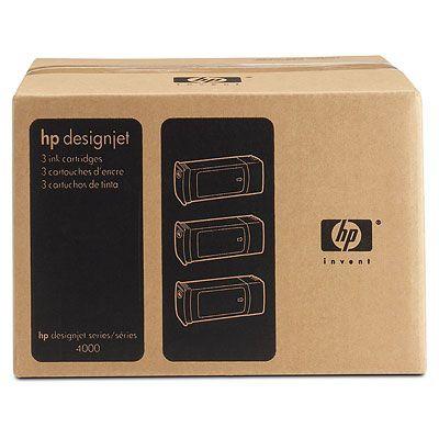 HP CONSUMIBLE Paquete de 3 cartuchos de tinta amarilla de 400 ml HP 90