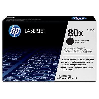 HP CONSUMIBLE Cartucho de toner negro HP 80X LaserJet