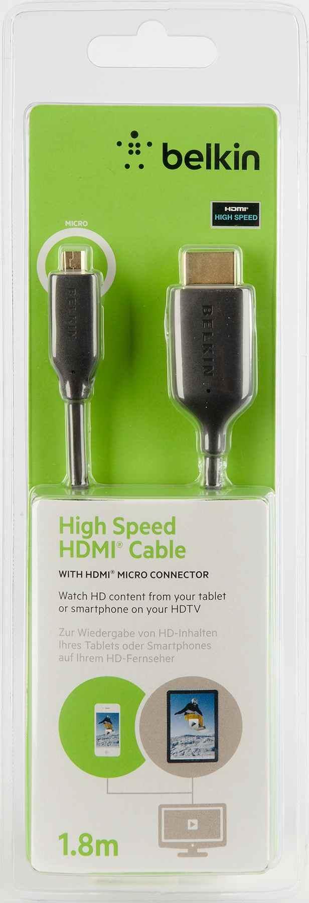 Belkin Micro-hdmi - Hdmi Av10098bf1 8m