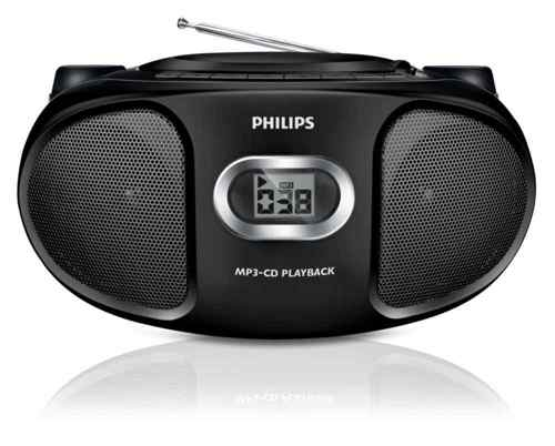 Philips Az305 Negro Con Mp3-cd Y Diseno Compacto Cd Soundmachine