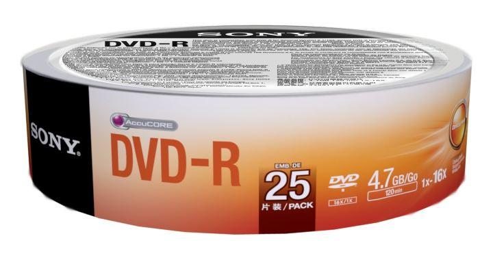 Sony DVD-R 16x  25 25DMR47SB