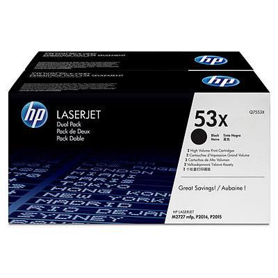 Ver HP CONSUMIBLE Cartuchos de toner negros de paquete doble HP 53X LaserJet