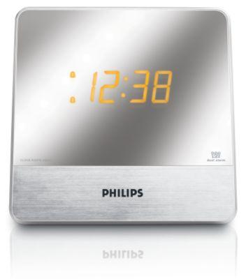 Philips Aj3231 Pantalla Acabada En Espejo Radio Reloj
