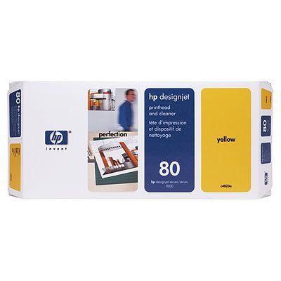 Ver HP CONSUMIBLE Cabezal de impresion y Limpiador de cabezales HP 80 amarillo