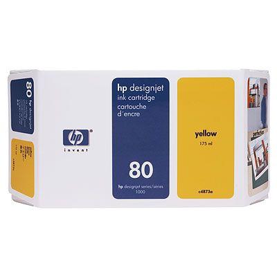 Ver Cartucho de tinta amarilla de 175 ml HP 80