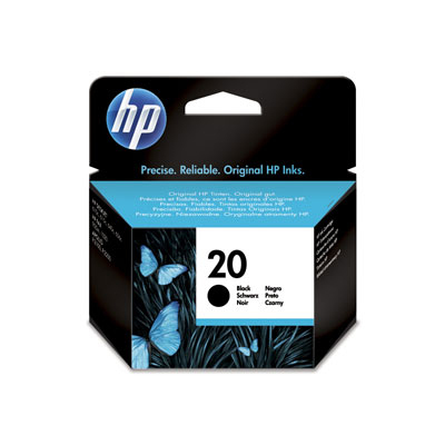 Hp Consumible Cartucho Negro De Inyeccion De Tinta Hp 20  28 Ml