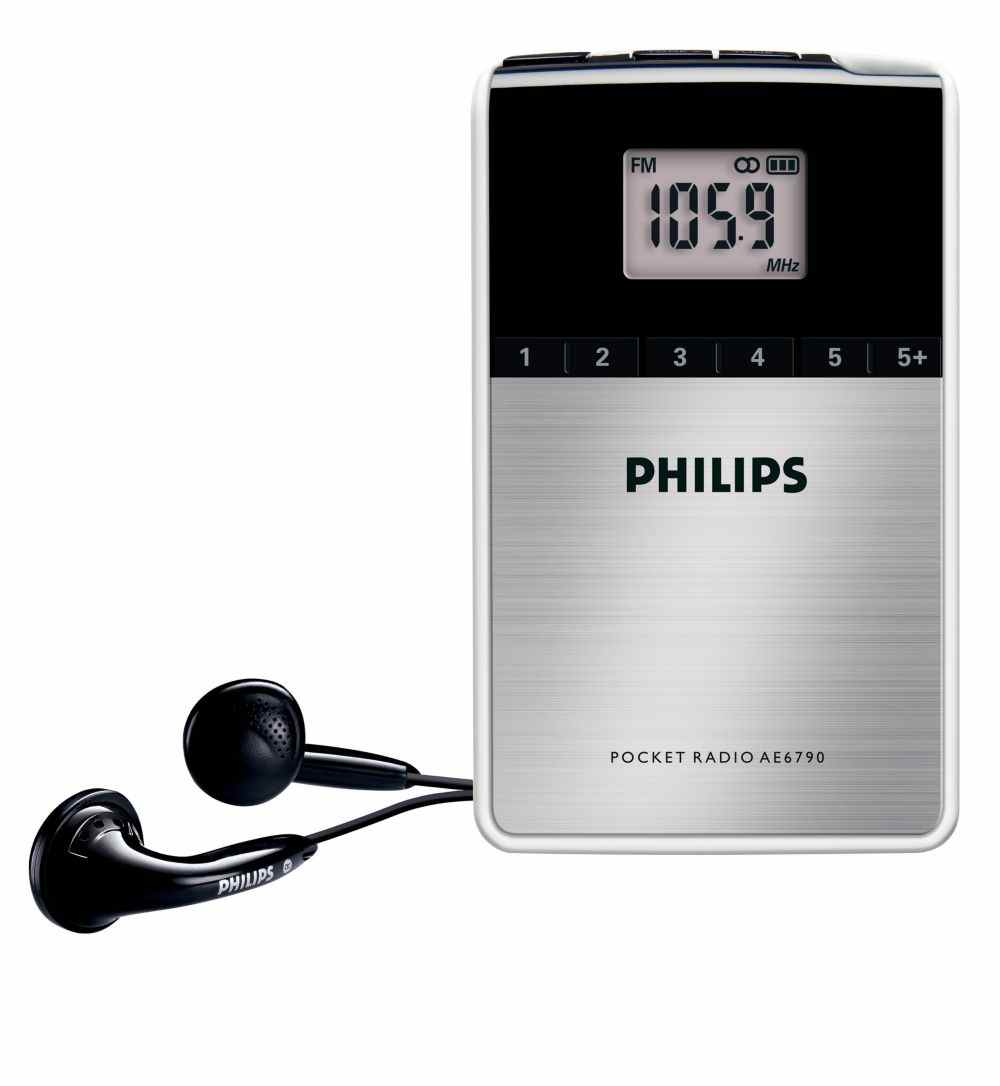 Philips Ae6790 Sintonizacion Digital Tamano Bolsillo Radio Portatil
