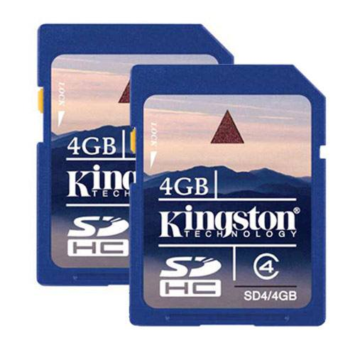 Kingston 4gb Sd Twin Pack