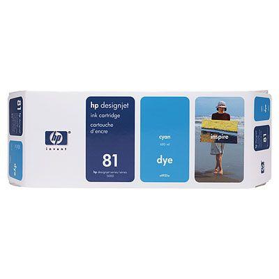 Ver HP CONSUMIBLE Cartucho de tinta de color cian HP 81 de 680 ml