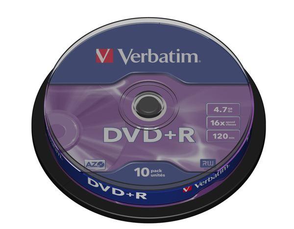 Verbatim DVD R Matt Silver 43498