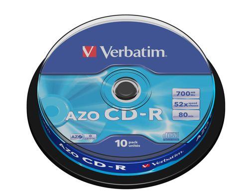 Verbatim Cd-r Azo Crystal 43429