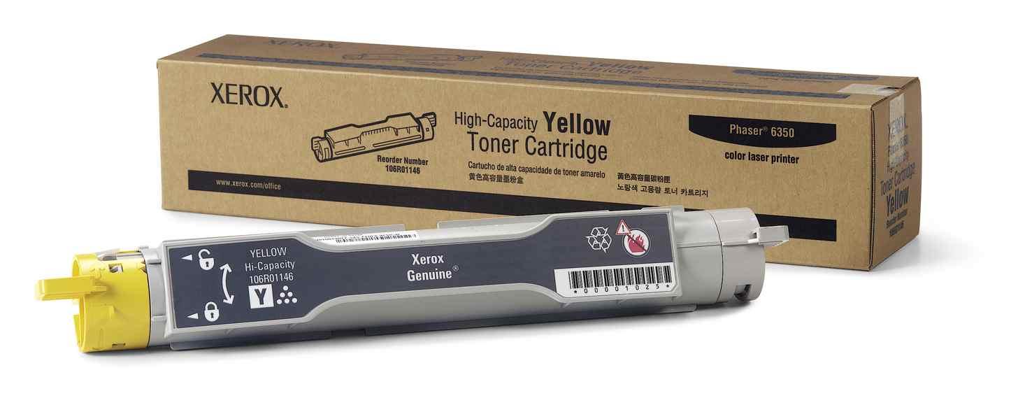 Xerox Toner Amarillo De Gran Capacidad  Phaser 6350  No Funcciona Con Phaser 6300