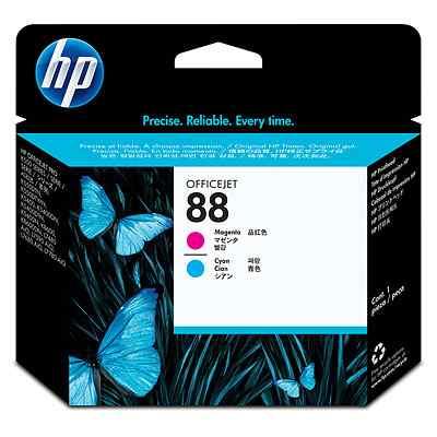 Cabezal de impresion magenta y cian Officejet HP 88