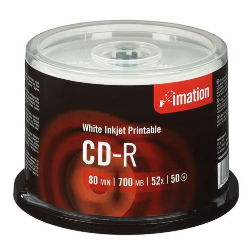 Imation Cd-r  52x  Inkjet Printable  Spindle  50 Pcs