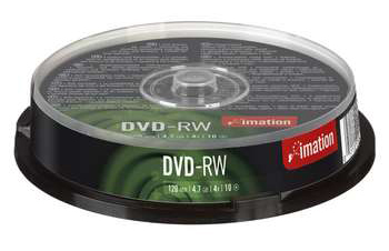 Imation Dvd-rw  4x  47gb  Spindle  10pcs